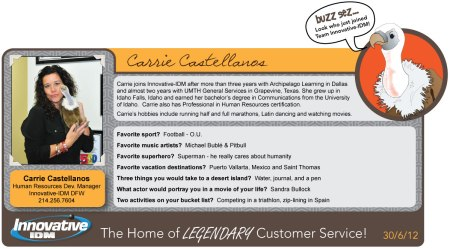 Buzz Welcomes Carrie Castellanos to Innovative-IDM