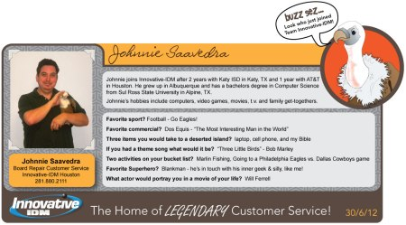 Buzz Welcomes Johnnie Saavedra to Innovative-IDM