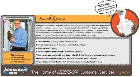 Buzz Sez Welcome Mark Jones to Innovative-IDM