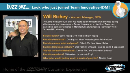 Buzz Sez welcome to Will Richey