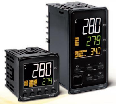 Omron E5CC and E5EC Series Temperature Controllers
