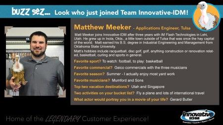 Buzz welcomes Matt Meeker to Innovative-IDM