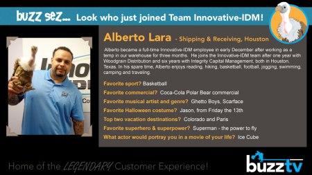 Buzz welcomes Alberto Lara to Innovative-IDM