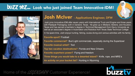 Buzz Welcomes Josh McIver to Innovative-IDM
