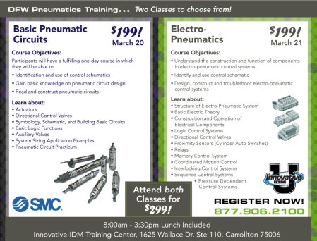 SMC Pneumatics training DFW March 2013