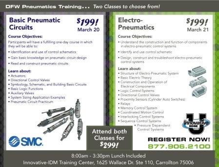 SMC Pneumatics training DFW March 2013