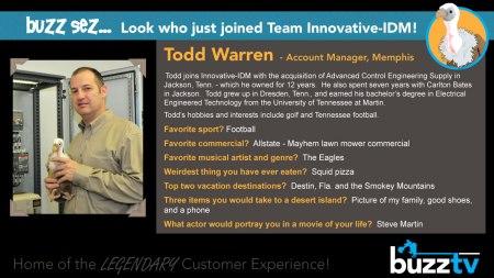Buzz Welcomes Todd Warren to Innovative-IDM