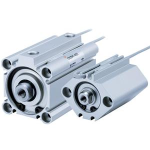 SMC, C(D)Q2-Z Compact Cylinder, Double Acting Single Rod (with Auto Switch Mounting Groove)