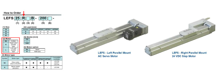 SMC LEFS Series Ball Screw Electric Actuators with Parallel