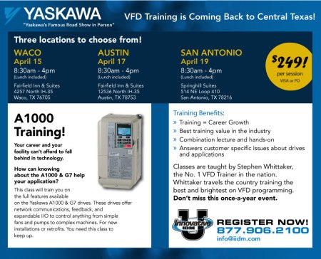 Yaskawa A1000 training Central Texas