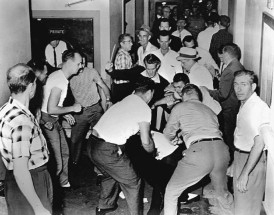 Freedom Riders mobbed in Birmingham, 1961