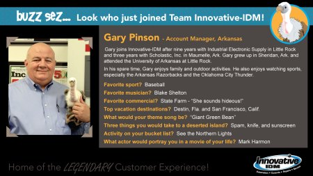 Buzz Welcomes Gary Pinson to Innovative-IDM