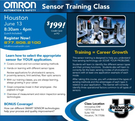 Houston Omron Sensors training June 13