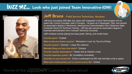 Buzz Welcomes Jeff Bruce to Innovative-IDM