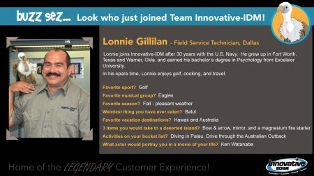 Buzz welcomes Lonnie Gillilan to Innovative-IDM