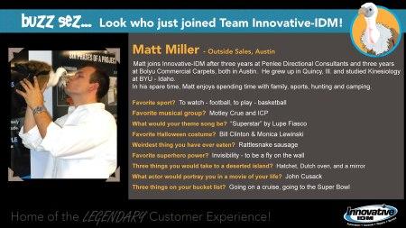 Matt Miller joins Innovative-IDM
