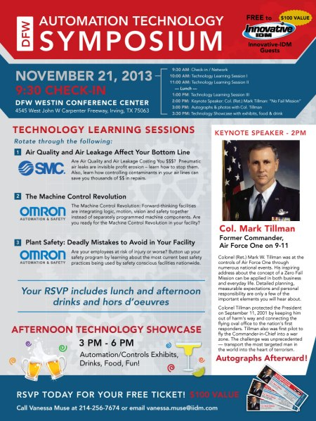 DFW Automation Technology Symposium Nov 21