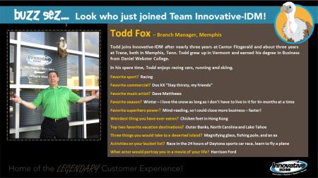 Buzz welcomes Todd Fox to Innovative-IDM