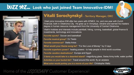 Buzz Welcomes Vitalii Sorochynskyi to Innovative-IDM