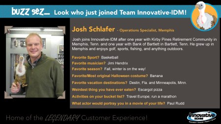 Buzz Welcomes Josh Schlafer to Innovative-IDM
