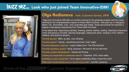 Buzz Welcomes Olga Rodionova to Innovative-IDM