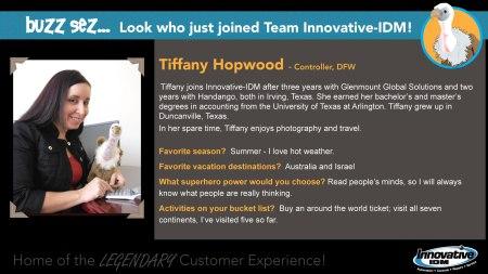 Buzz Welcomes Tiffany Hopwood to Innovative-IDM