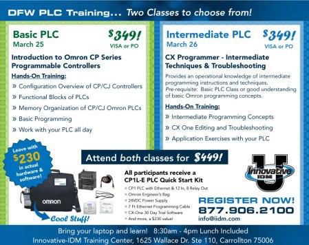 Omron PLC training Dallas Fort Worth