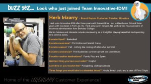 Buzz welcomes Herb Irizarry to Innovative-IDM