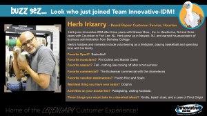 Buzz welcomes Herb Irizarry to Innovative-IDM