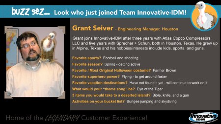 Buzz welcomes Grant Seiver to Innovative-IDM
