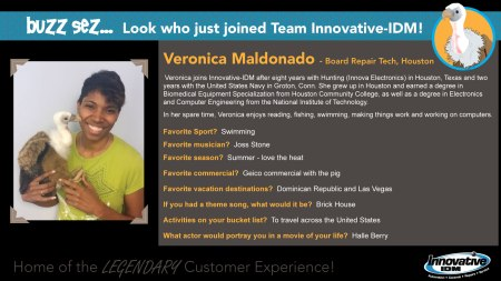 Buzz welcomes Veronica Maldonado to Innovative-IDM