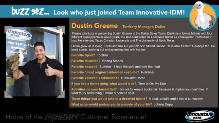 Buzz welcomes Dustin Greene to Innovative-IDM