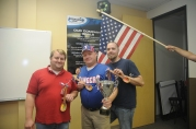 Danny Causey, John Gray and Rick Wormwood: winners of Most Original, Best Chili, and Hottest Chili