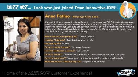 Buzz Welcomes Anna Patino to Innovative-IDM