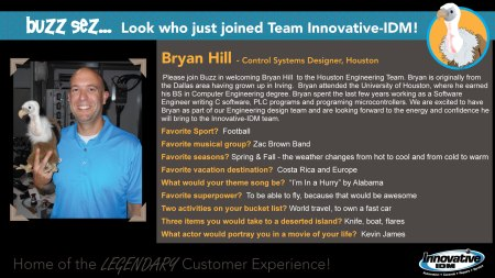 Buzz Welcomes Bryan Hill to Innovative-IDM