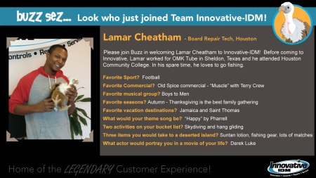 Buzz Welcomes Lamar Cheatham to Innovative-IDM
