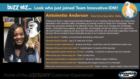 Antoinette Anderson joins Innovative-IDM