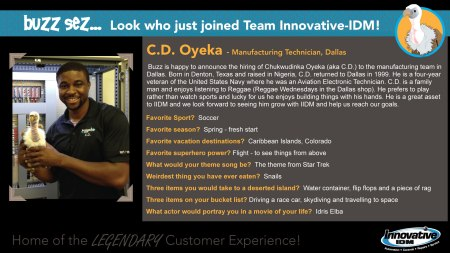 CD Oyeka joins Innovative-IDM Contract Manufacturing Team