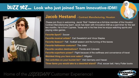 Buzz Welcomes Jacob Hestand to Innovative-IDM
