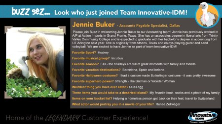 Jennie Buker joins accounting team at Innovative-IDM