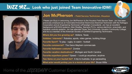 Jon McPherson joins Innovative-IDM