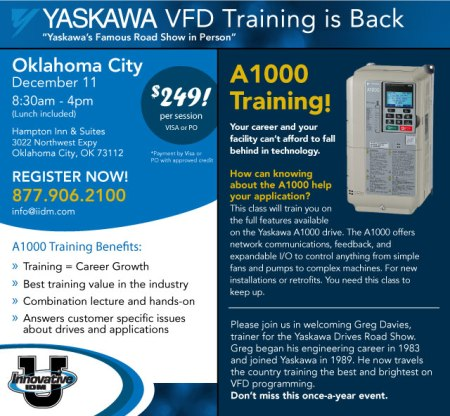 Yaskawa A1000 Training Oklahoma City December 11, 2014