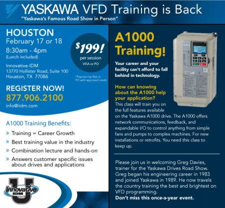 Yaskawa A1000 training Houston February 2015
